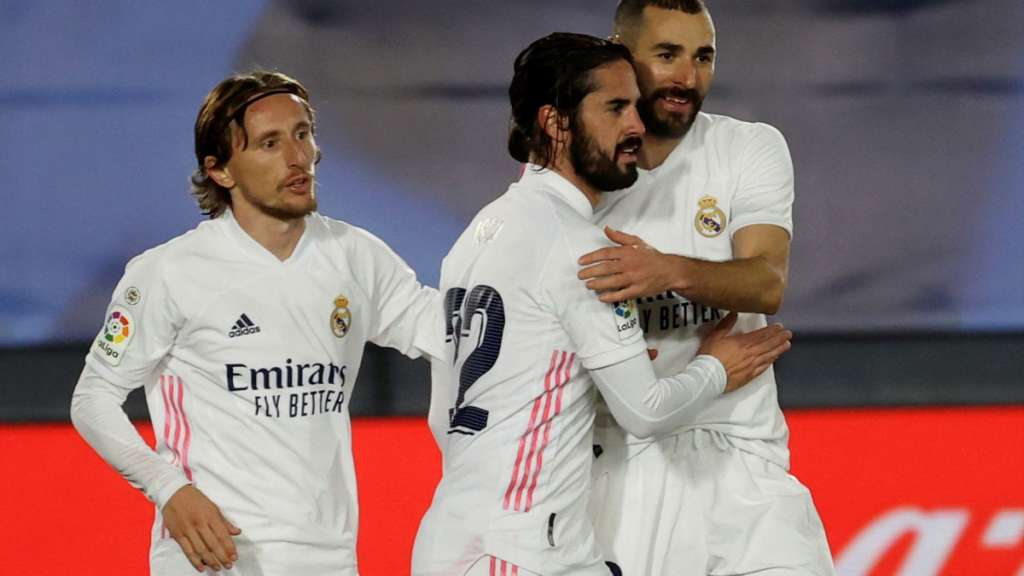 Luka Modric, Isco Alarcón et Karim Benzema